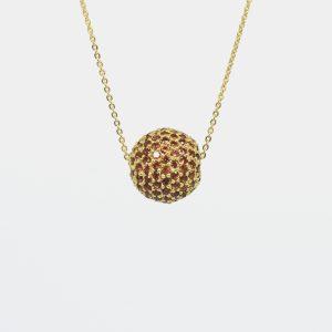 Comprar colgante con bola de zafiros. Plata cubierta por un baño de oro