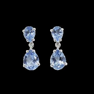 Pendientes Eveline con topacios azules