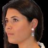 pendientes vega con cuarzo rosa, amatista y topacio azul