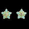 Pendientes Estrella con Amazonita y Topacios Blancos